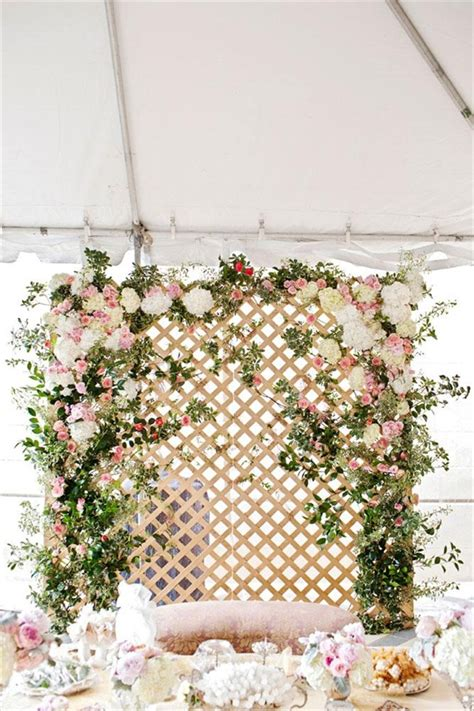 Handmade Backdrops - flower backdrops for weddings photo by perez photography