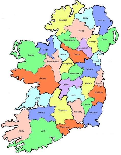 a map of counties ireland s county names what do they ireland