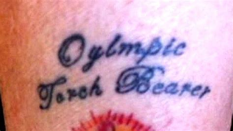 beckham tattoo spelt wrong spelling error in torchbearer s olympic tattoo bbc news