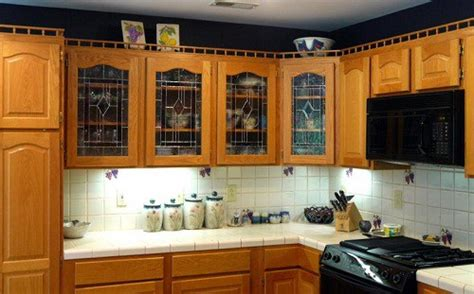 glass inserts for kitchen cabinets that giving different