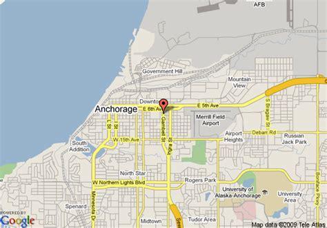 anchorage alaska us map map of travel inn anchorage