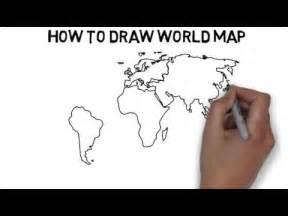 How To Draw A World Map how to draw world map youtube
