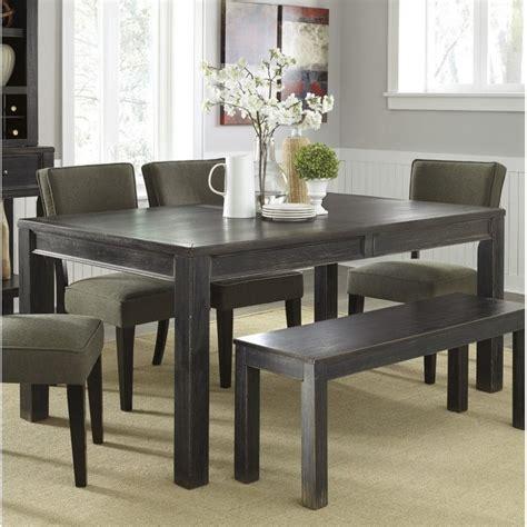 Black Rectangle Dining Table Gavelston Rectangular Dining Table In Black D532 25