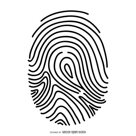 fingerprint template fingerprint thin line illustration vector