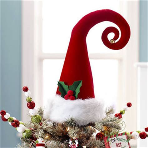 santa hat tree topper 24 95 from pier 1 imports christmas