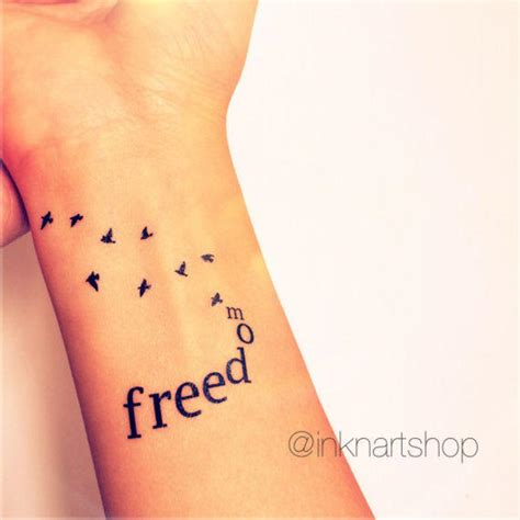 freedom bird tattoo 2pcs freedom with flying birds from inknartshop
