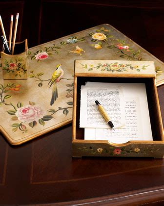 floral desk accessories three bird floral desk set traditional desk