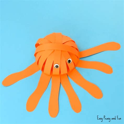 Octopus Papercraft - simple paper octopus craft summer crafts for easy