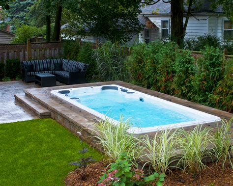 swim spa backyard designs backyard spa ideas gogo papa com