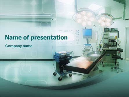 operating room dashboard operating room in aqua colors presentation template for powerpoint and keynote ppt