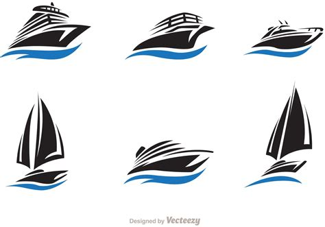 fast boat vector fast ship and boat vector set download free vector art