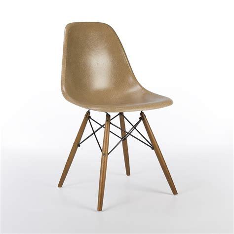 eames original original herman miller light brown eames dsw side chair