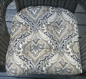 black and white paisley chair indoor outdoor wicker seat chair cushion black taupe gray