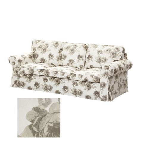 floral slipcovers for sofas ikea ektorp 3 seat sofa slipcover cover norlida beige