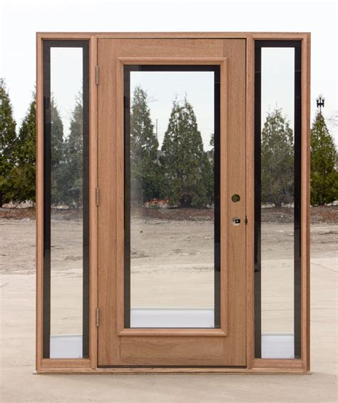 Door With Sidelights by Mahogany Door With Elliptical Transom