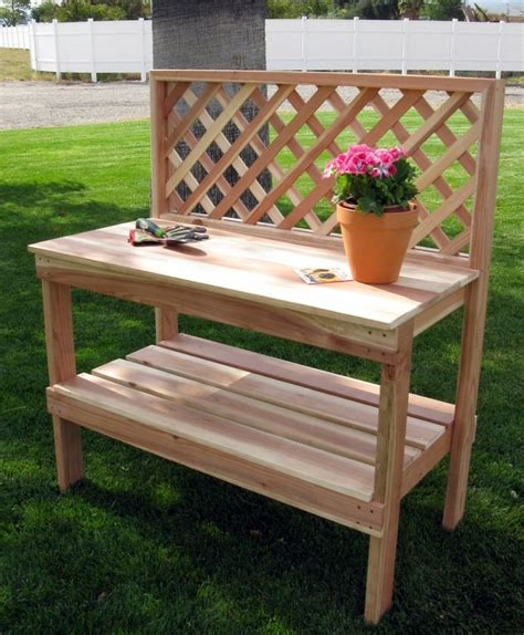 potting bench kit humboldt redwood potting table kit gardens and gates