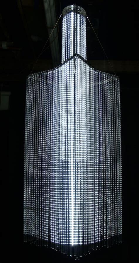 hand crafted glass tube chandelier  david  zvanut fine