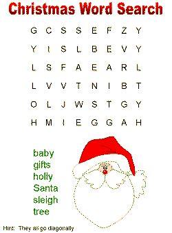 christmas wordsearch for kindergarten printable christmas word search