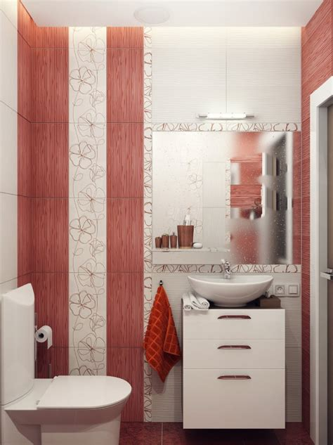 red bathroom wall decor small bathroom design