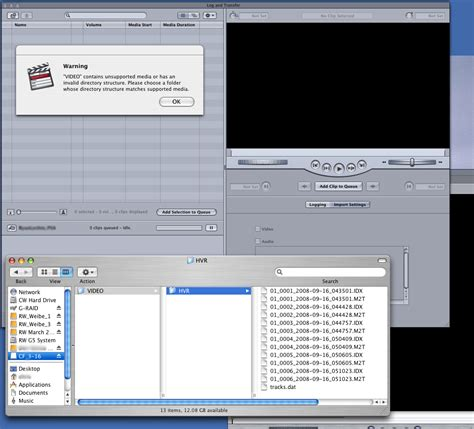 final cut pro error out of memory error accessing xdcam media on compact flash card in final