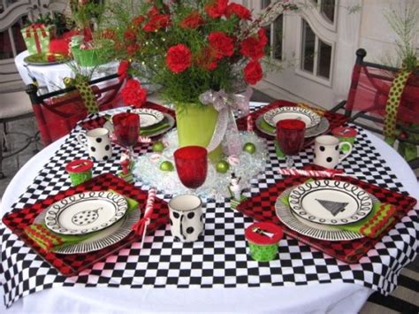 black and red christmas tablescapes house tablescapes southern hospitality
