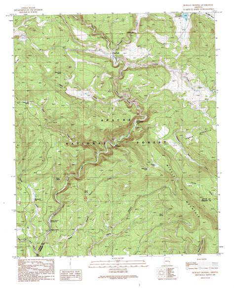 arizona topographical map buffalo crossing topographic map az usgs topo 33109g3
