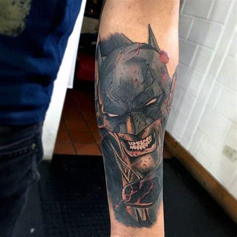 batman forearm tattoo 100 batman tattoos for men superhero ink designs