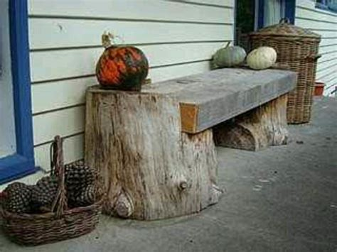 bench made out of tree trunk bench made with tree stubs diy pinterest