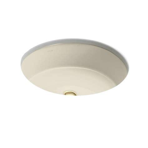 almond undermount bathroom sink kohler verticyl oval vitreous china undermount bathroom
