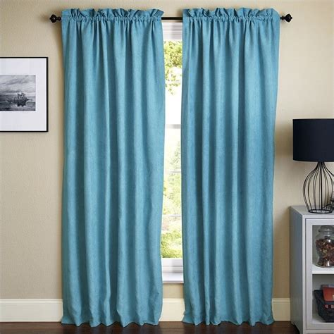 aqua blackout curtains blazing needles 84 inch blackout curtain panels in aqua