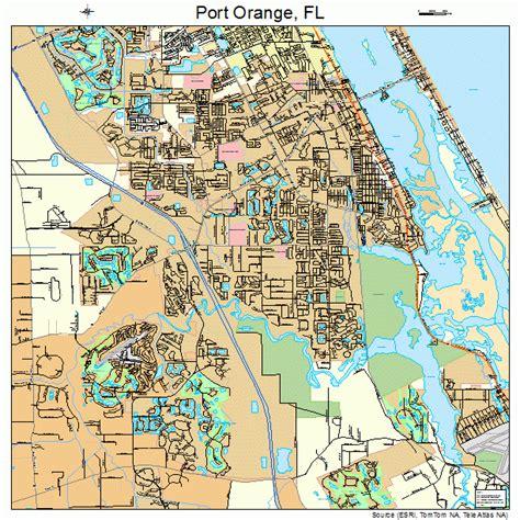 map port orange florida port orange florida map 1258575