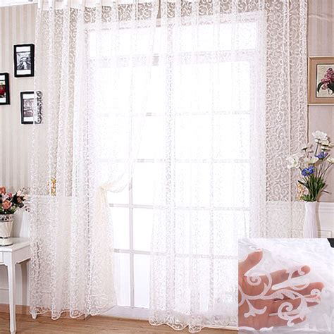 modern floral curtains modern floral tulle voile window curtain drape panel sheer