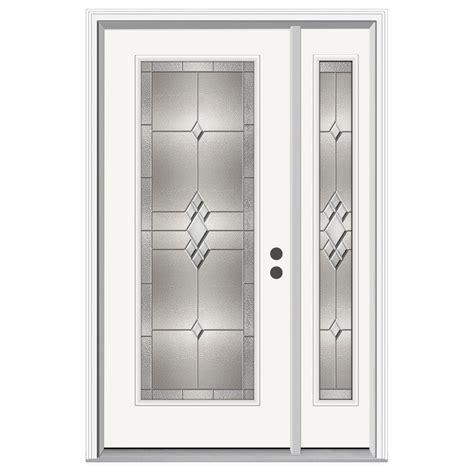 12 Lite Exterior Door Jeld Wen Kingston Lite Primed Steel Entry Door With 12 In Sidelites H30762 On Popscreen