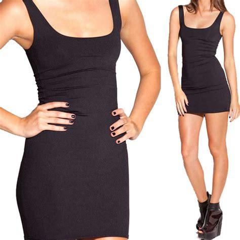 Dress Fit L Pl black dress new fashion casual fitness dresses sleeveless bodycon dresses plus size s m l