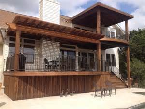 Hip Roof Pergola by Gorgeous Tigerwood Deck With Metal Framing Cedar Pergola