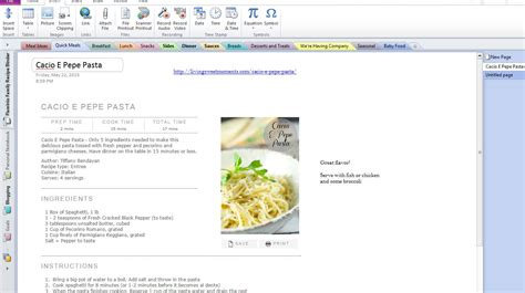 how to use onenote to organize all your recipes humble