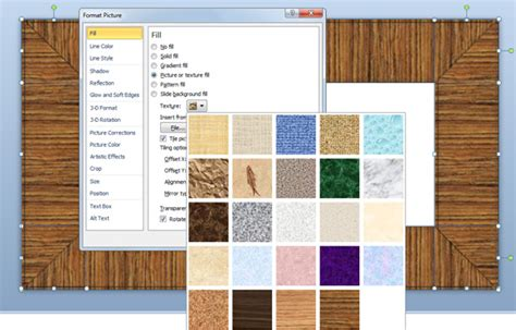 pattern fill shape powerpoint 2007 how to make a wooded frame in powerpoint 2010
