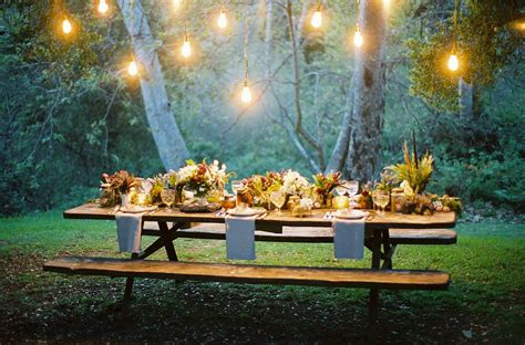 dinner table lighting 15 outdoor thanksgiving table settings for dining alfresco