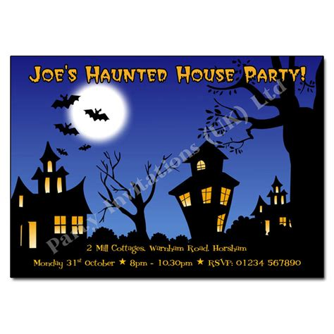 haunted house party haunted house halloween party invites