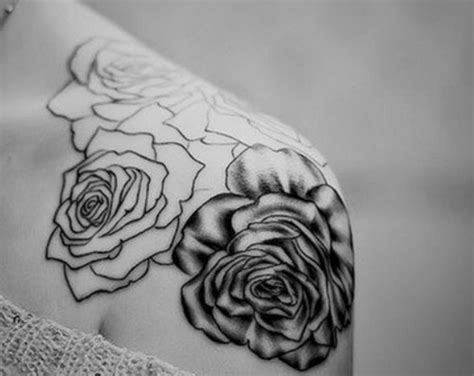 rose shoulder tattoo just the outline tattoosssssesss