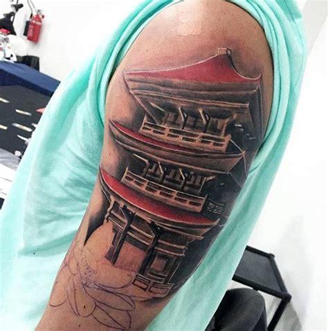 japanese tattoo upper arm 50 japanese temple tattoo designs for men buddhist ink ideas
