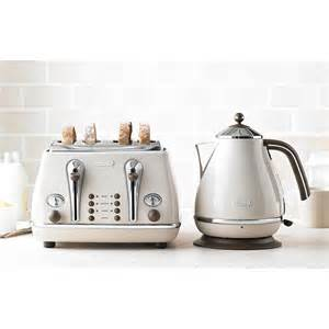 Delonghi White Kettle And Toaster Toaster And Kettle Set Delonghi Vintage Beige Icona Set