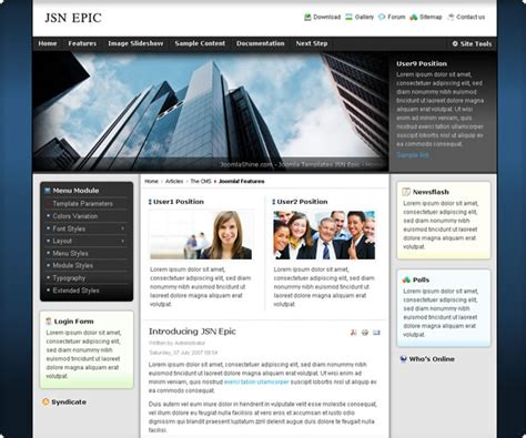 Epic Templates free wts versions joomla template jsn epic template
