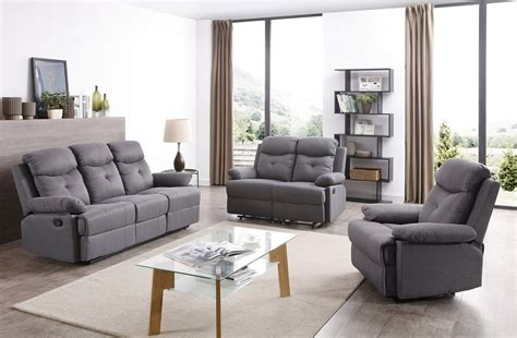 stadium seating couches living room stadium reclining living room set gray by
