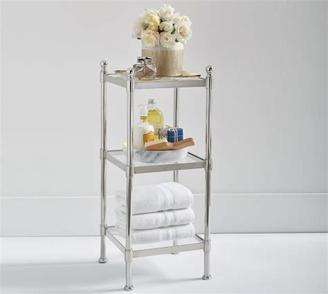 Metal Etagere Bathroom Metal Etagere Pottery Barn