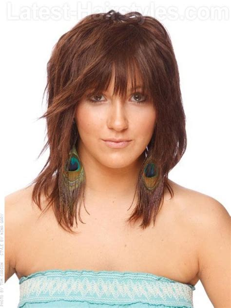 shoulder length hair feathered on the sides the sides feathered medium length haircuts haircut ideas