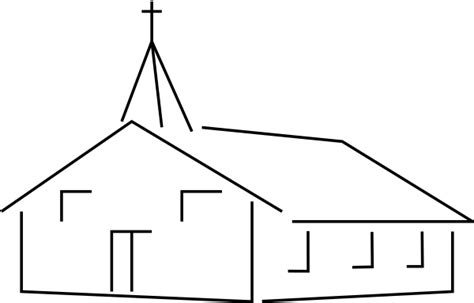 Church Building Template Church Outline Clipart Clipart Suggest