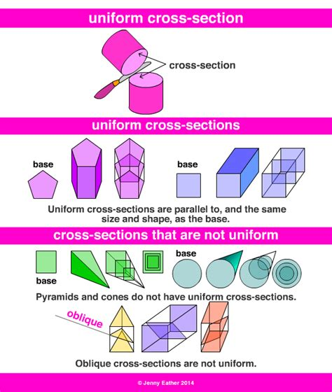 types of cross sections uniform cross section a maths dictionary for kids quick