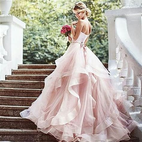 Wedding Dresses Pink by 709 Best Menyasszonyi Ruh 225 K Sz 237 Nes Color Bridal Gown