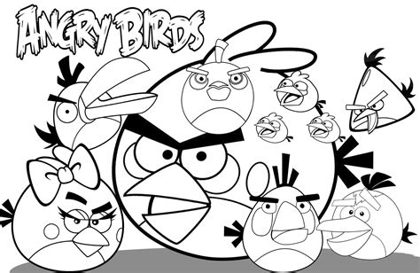 Angry Birds Coloring Pages free printable angry bird coloring pages for